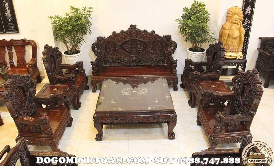 Bộ bàn ghế rồng đỉnh