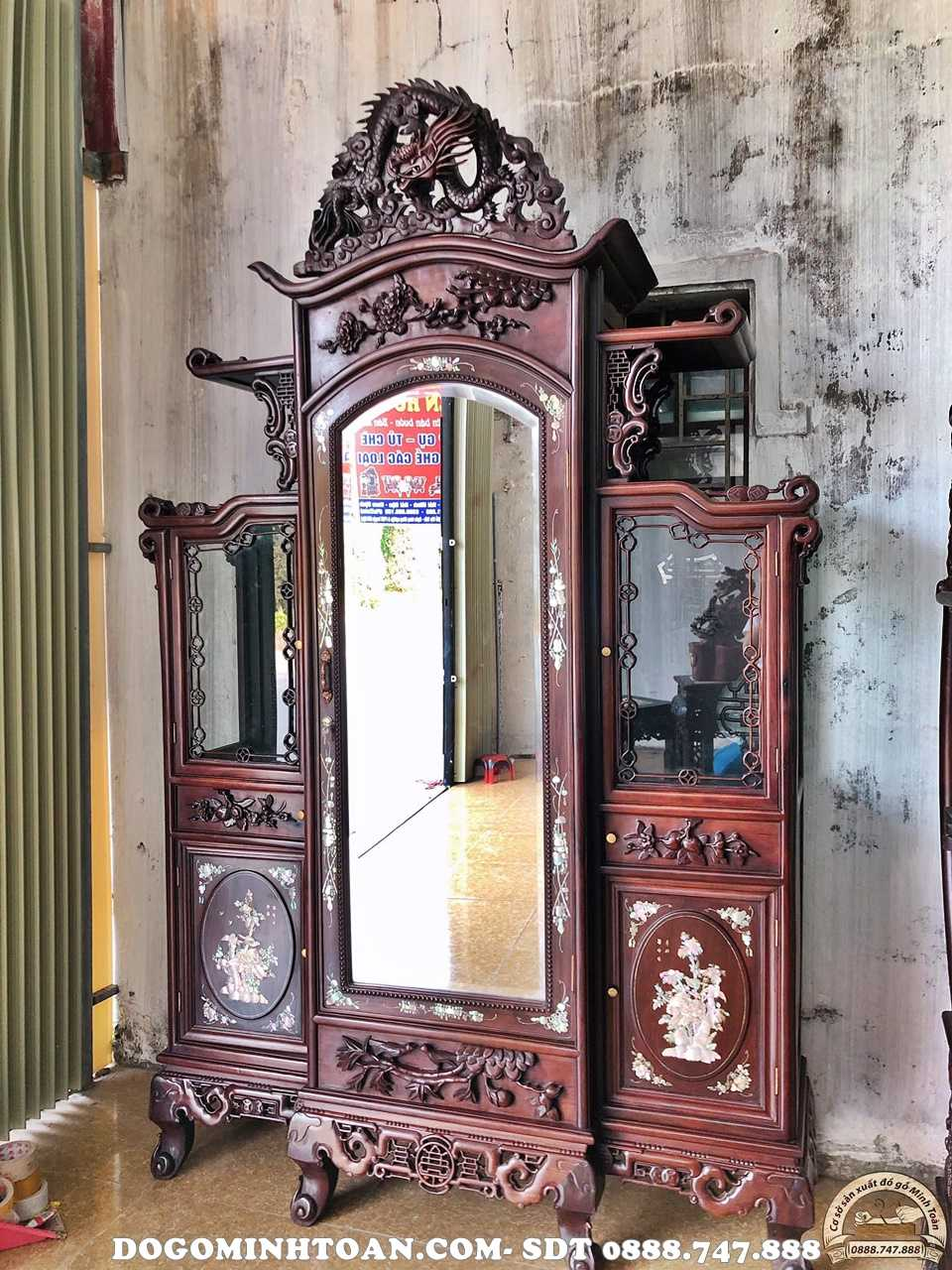 Tủ chùa Rồng khảm ốc
