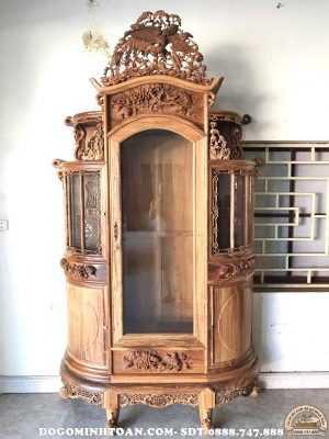 Tủ chùa bán nguyệt gỗ gụ