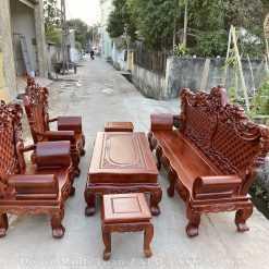 bàn ghế hoàng gia hương đá